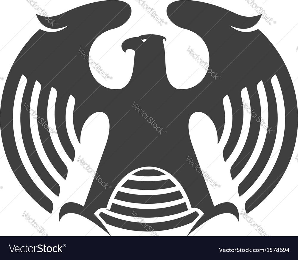 Eagle heraldic silhouette vector | Price: 1 Credit (USD $1)