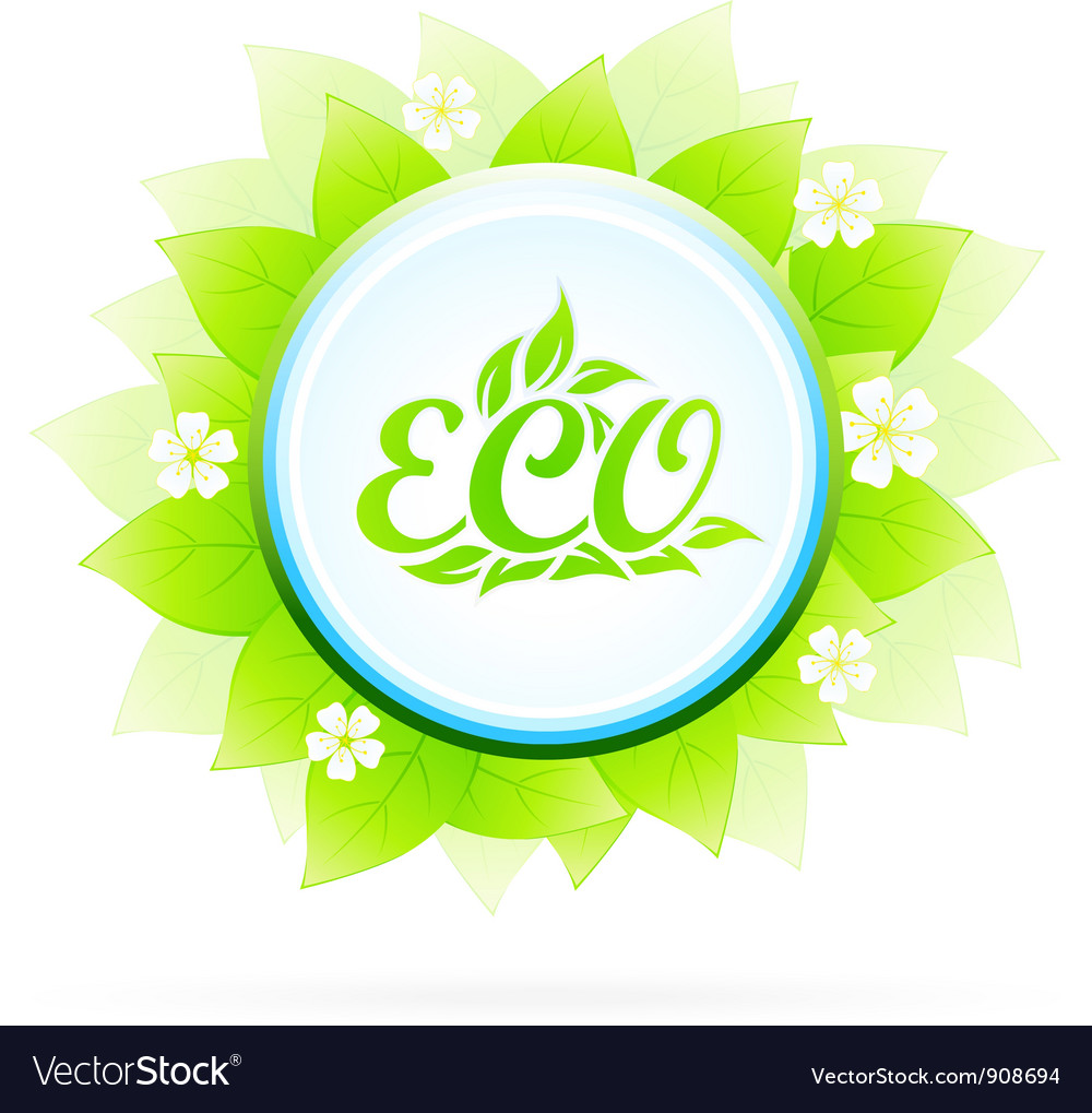 Eco symbol vector | Price: 3 Credit (USD $3)