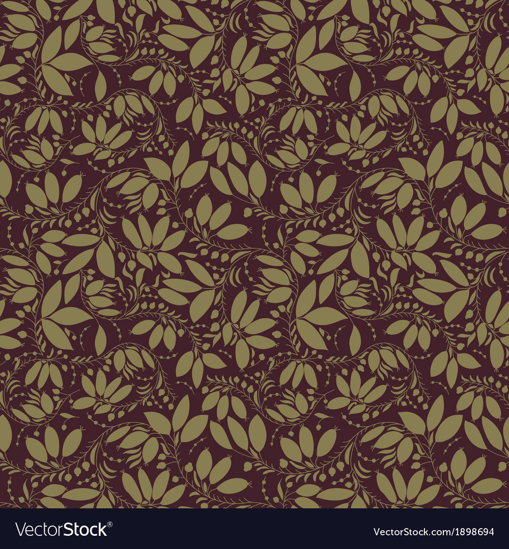 Gold berry and flower silhouette vector   Price: 1 Credit (USD $1)