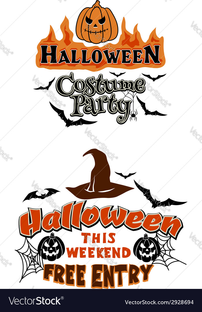 Halloween party theme graphics vector | Price: 1 Credit (USD $1)