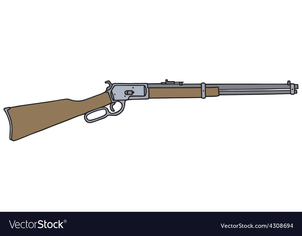 Old american rifle vector | Price: 1 Credit (USD $1)