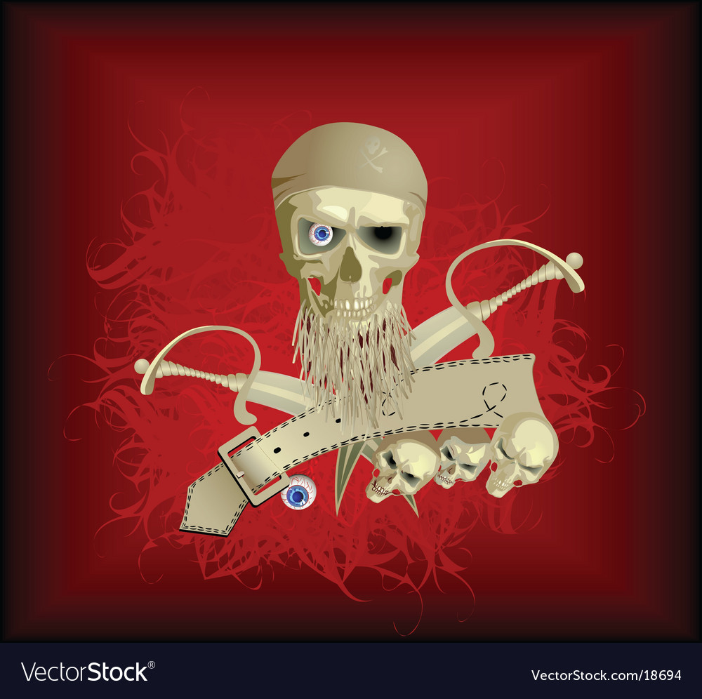 Piracy skull vector | Price: 3 Credit (USD $3)