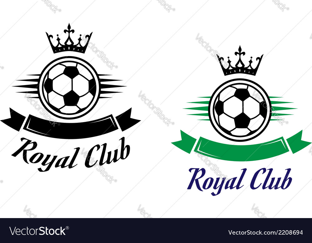 Royal football or soccer club symbol vector | Price: 1 Credit (USD $1)