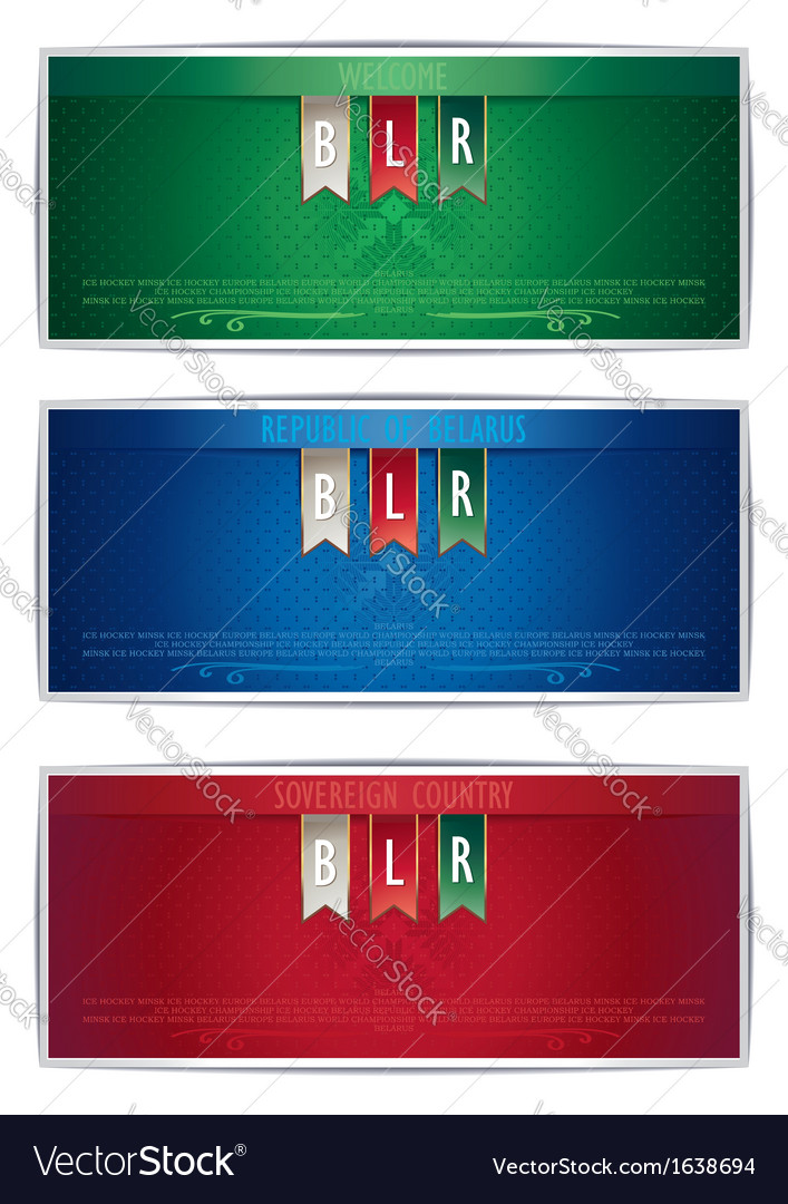 Three belarus vertical banners with ribbons vector | Price: 1 Credit (USD $1)