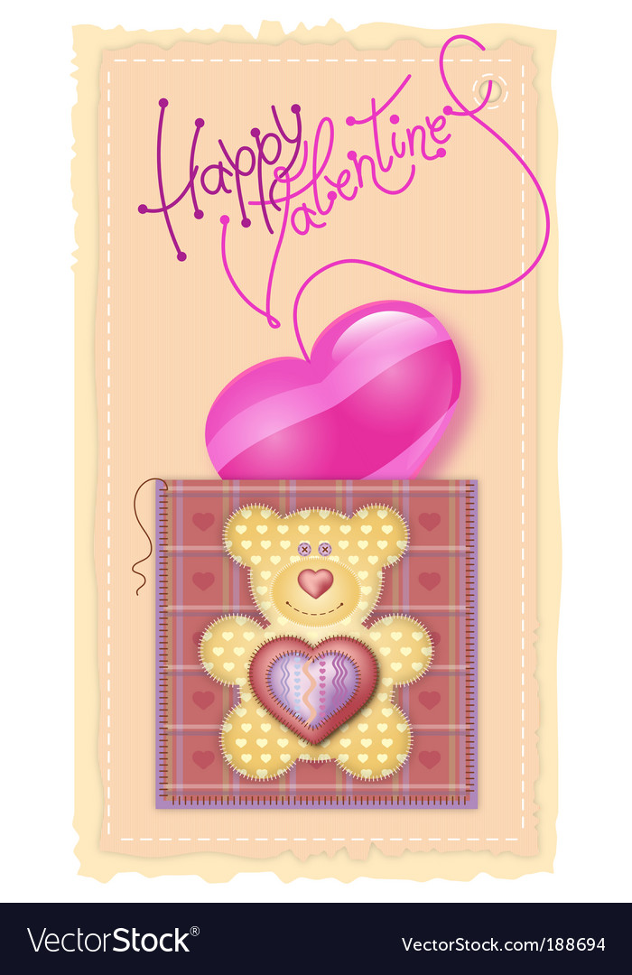 Valentine's day card vector | Price: 1 Credit (USD $1)