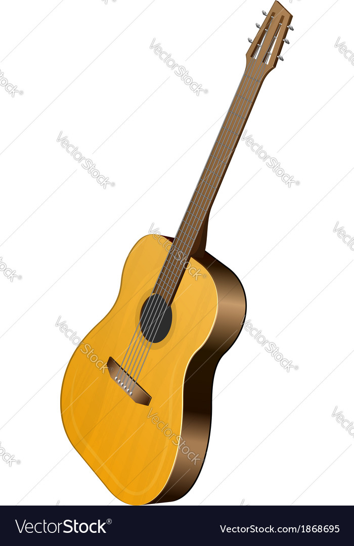 Classical guitar vector | Price: 1 Credit (USD $1)
