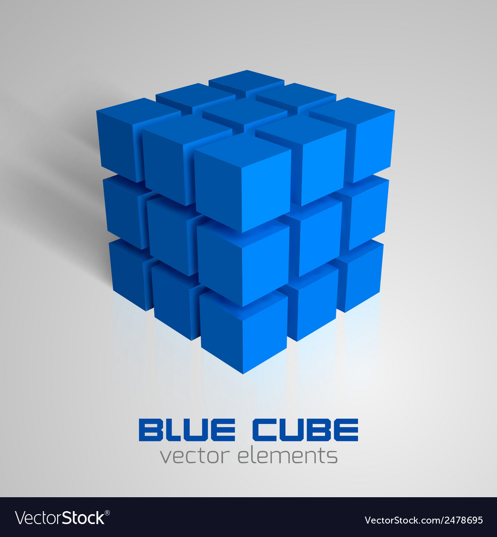 Cube blue vector | Price: 1 Credit (USD $1)