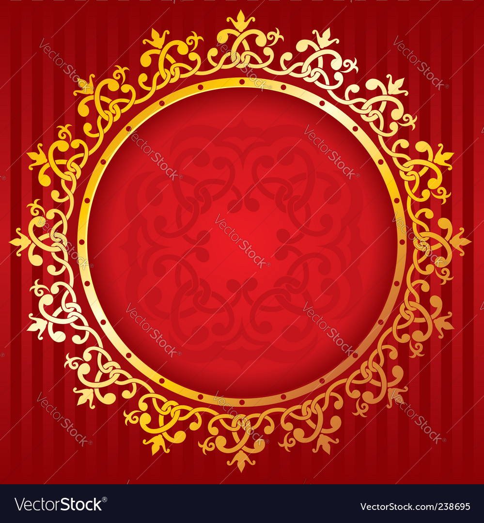 Decorative gold frame vector | Price: 1 Credit (USD $1)