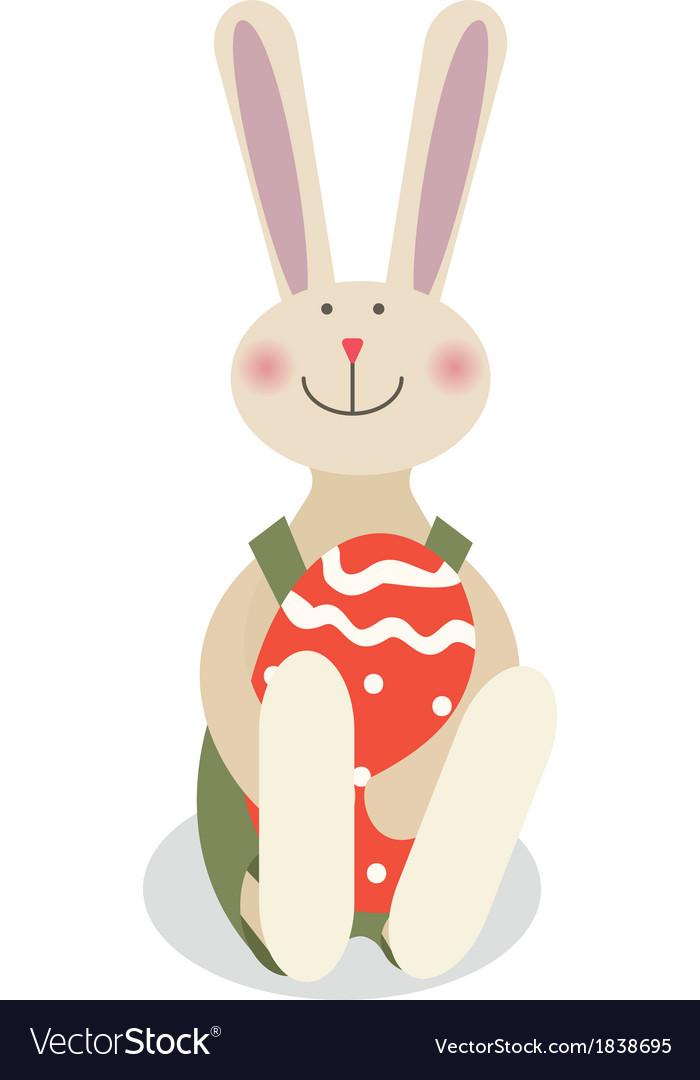 Easter rabbit vector | Price: 1 Credit (USD $1)