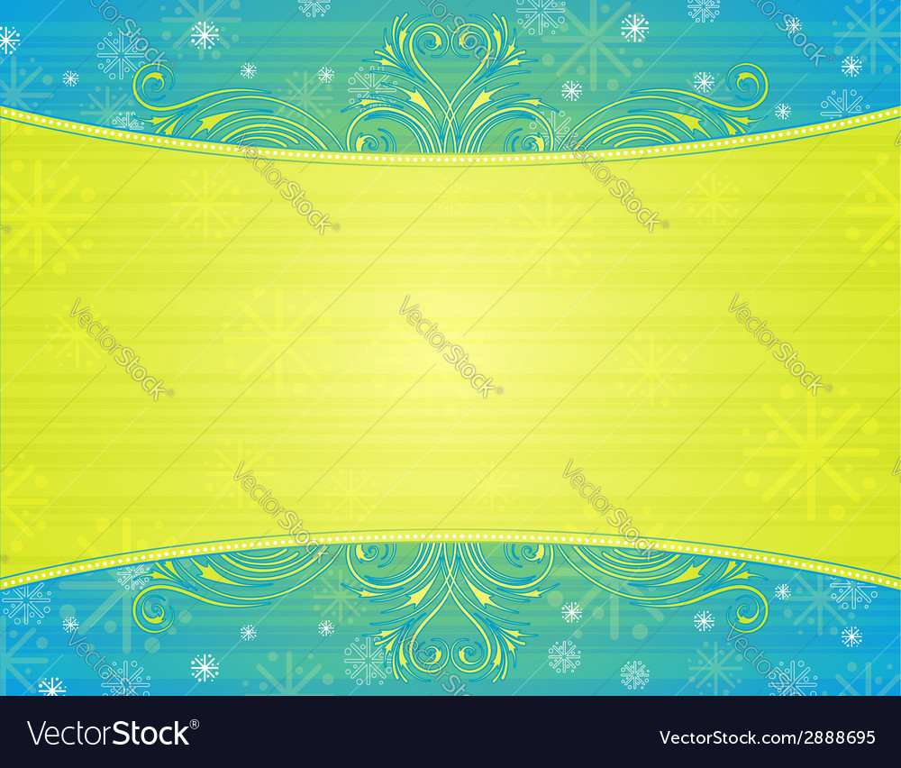 Green background with decorative ornaments vector | Price: 1 Credit (USD $1)