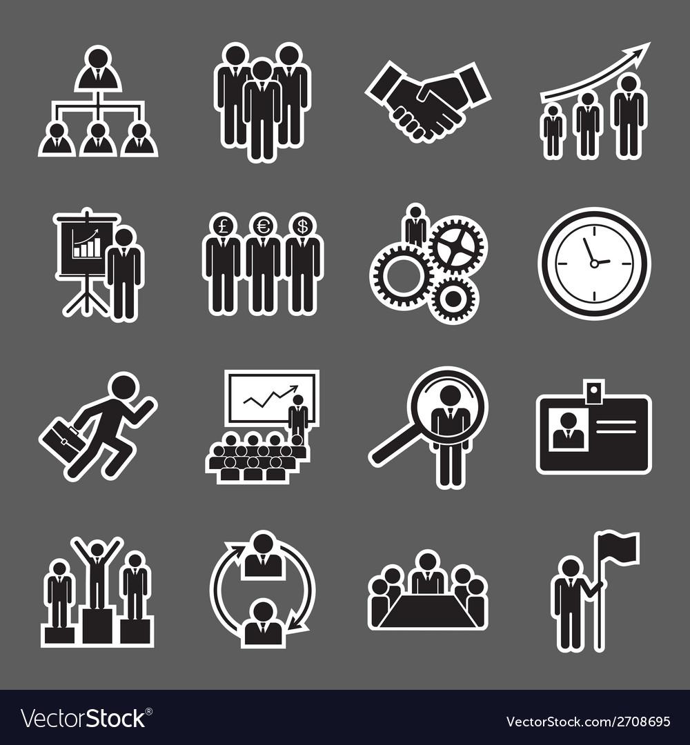 Human resource icon vector | Price: 1 Credit (USD $1)