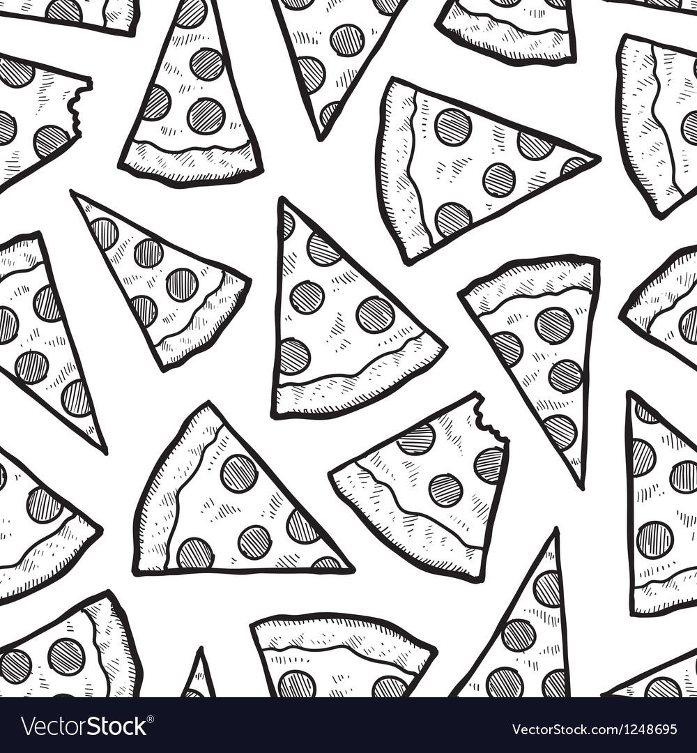 Pizza pattern vector | Price: 1 Credit (USD $1)