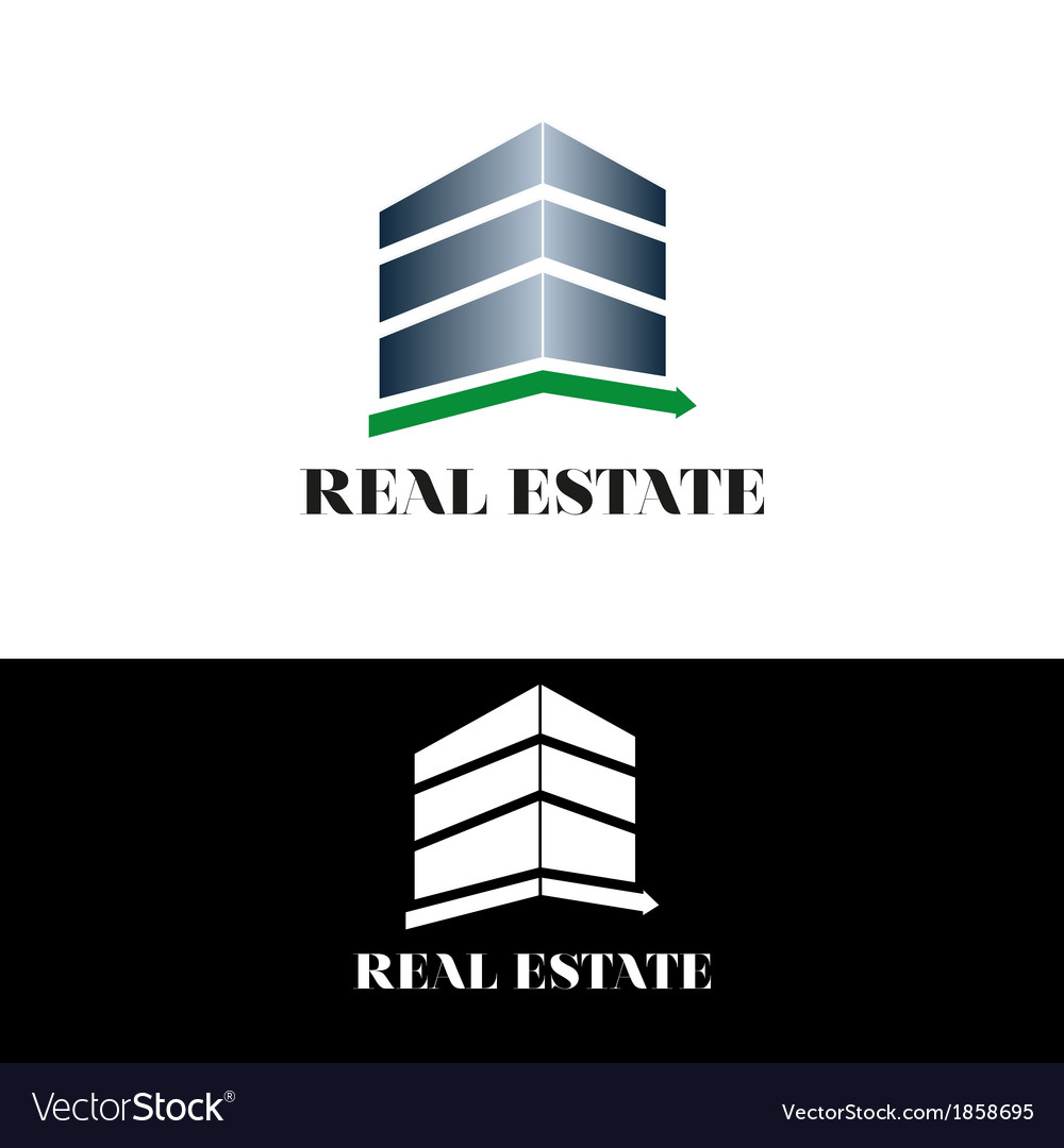 Real estate building vector | Price: 1 Credit (USD $1)