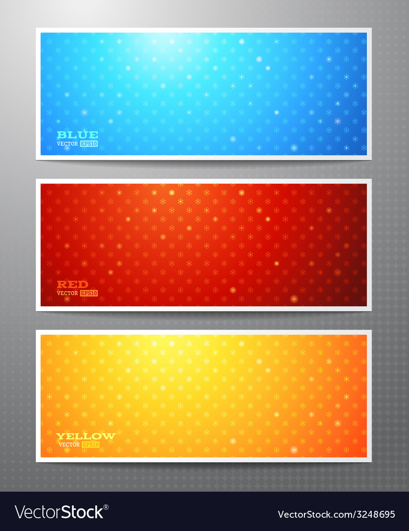 Set of three bright winter banners vector | Price: 1 Credit (USD $1)