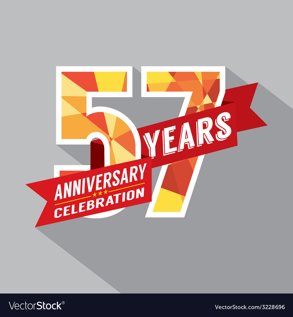 57th years anniversary celebration design vector | Price: 1 Credit (USD $1)