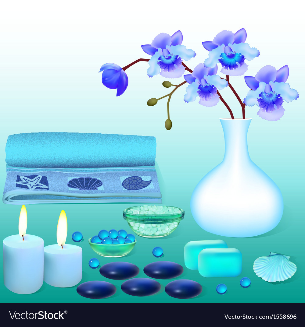 Background for spa with flowers salt vector | Price: 1 Credit (USD $1)