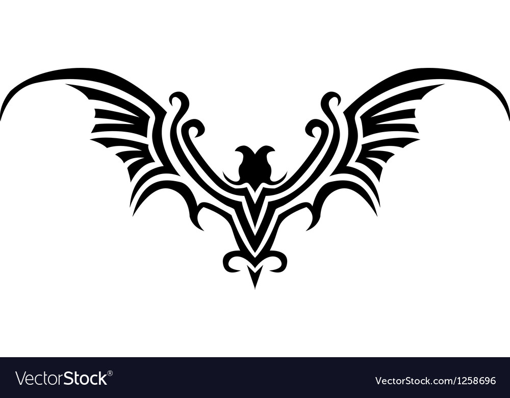 Bat tattoo vector | Price: 1 Credit (USD $1)