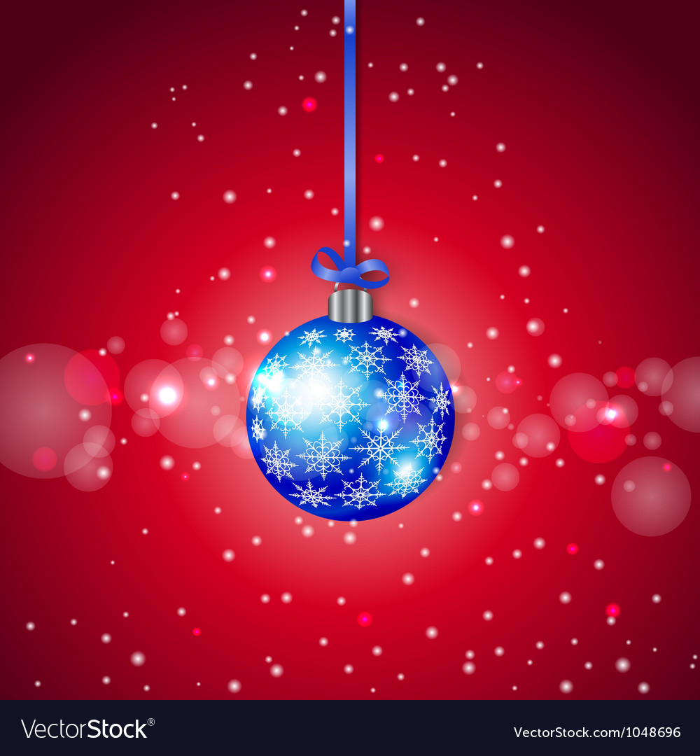 Blue sparkling christmas ball vector | Price: 1 Credit (USD $1)