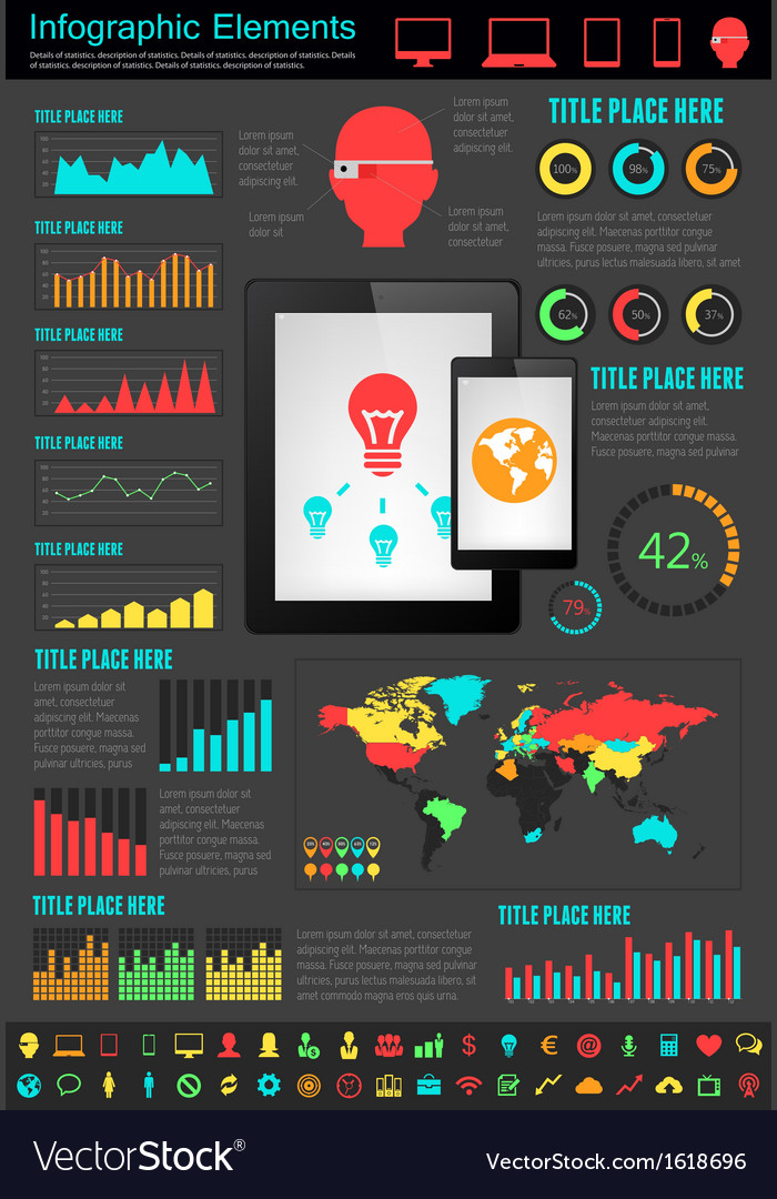 It industry infographic elements vector   Price: 1 Credit (USD $1)