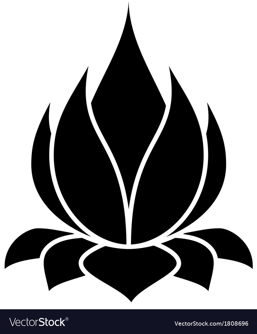 Lotus flower vector | Price: 1 Credit (USD $1)