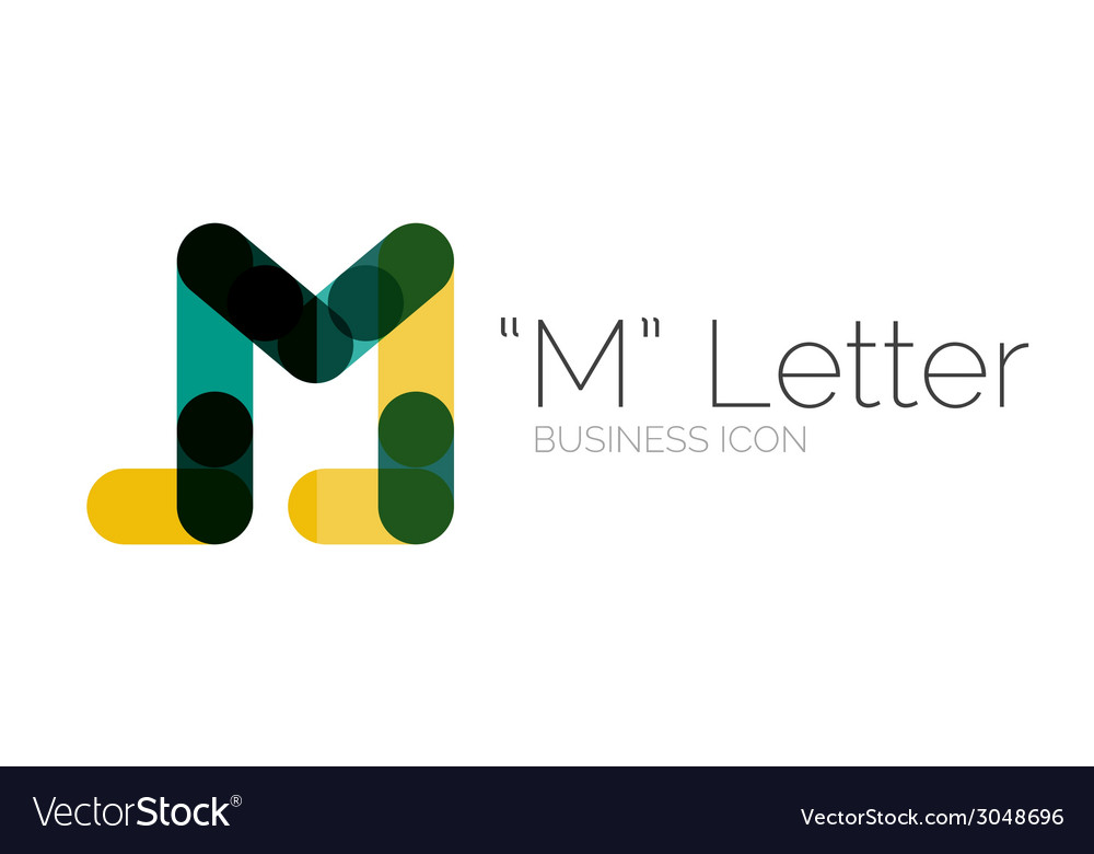 Minimal font or letter logo design vector | Price: 1 Credit (USD $1)