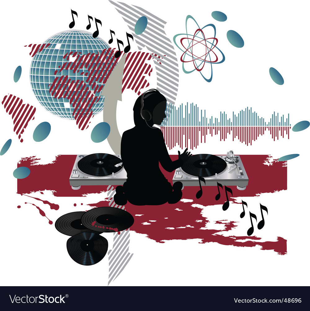 Music poster dj vector | Price: 1 Credit (USD $1)
