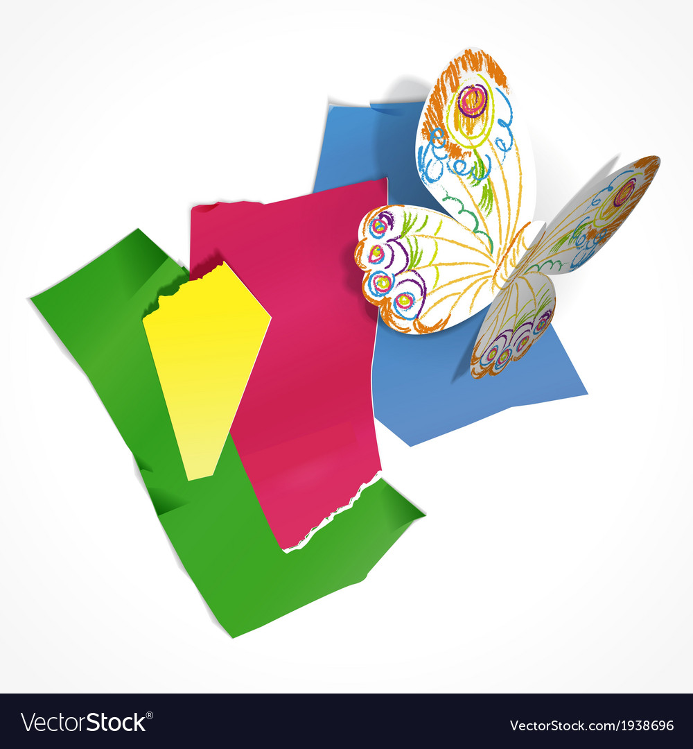 Paper butterfly vector   Price: 1 Credit (USD $1)