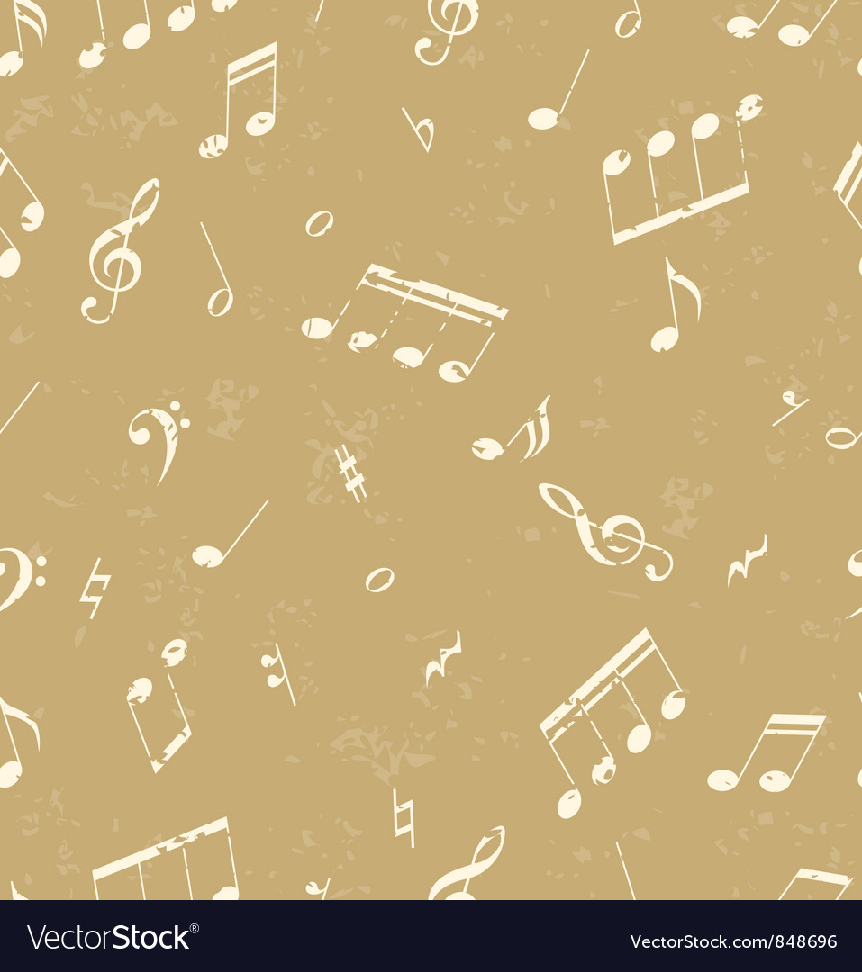 Pattern with music symbols vector | Price: 1 Credit (USD $1)