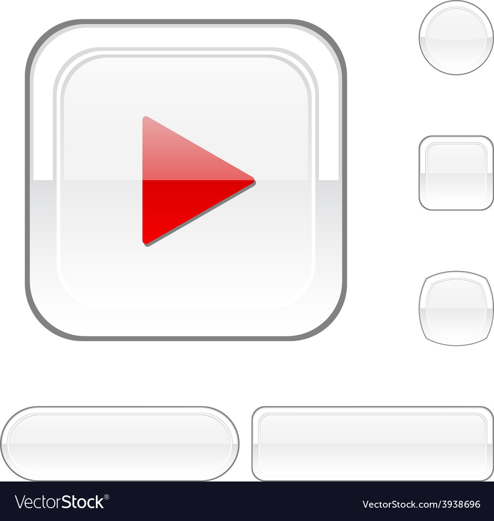 Play white button vector | Price: 1 Credit (USD $1)