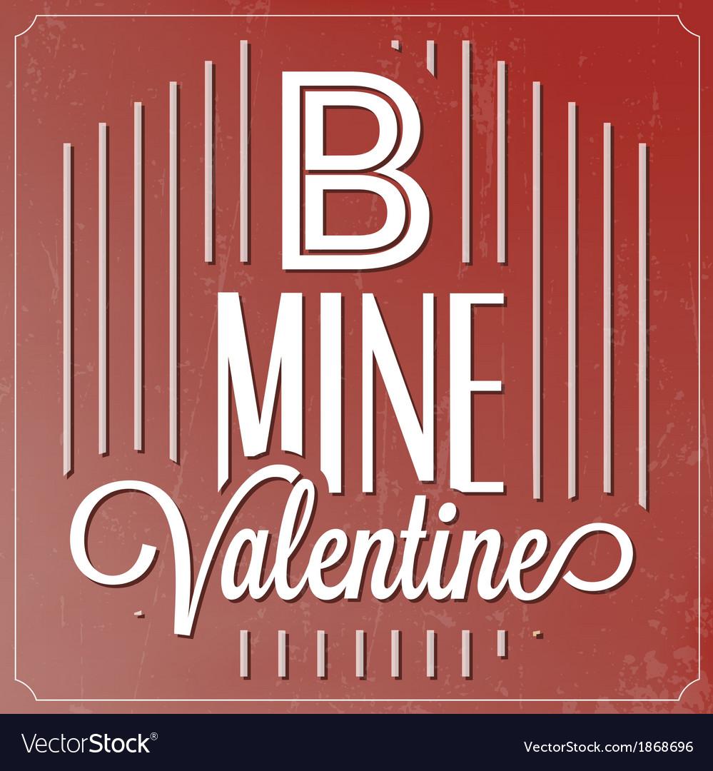 Romantic typographic valentines day quote vector | Price: 1 Credit (USD $1)