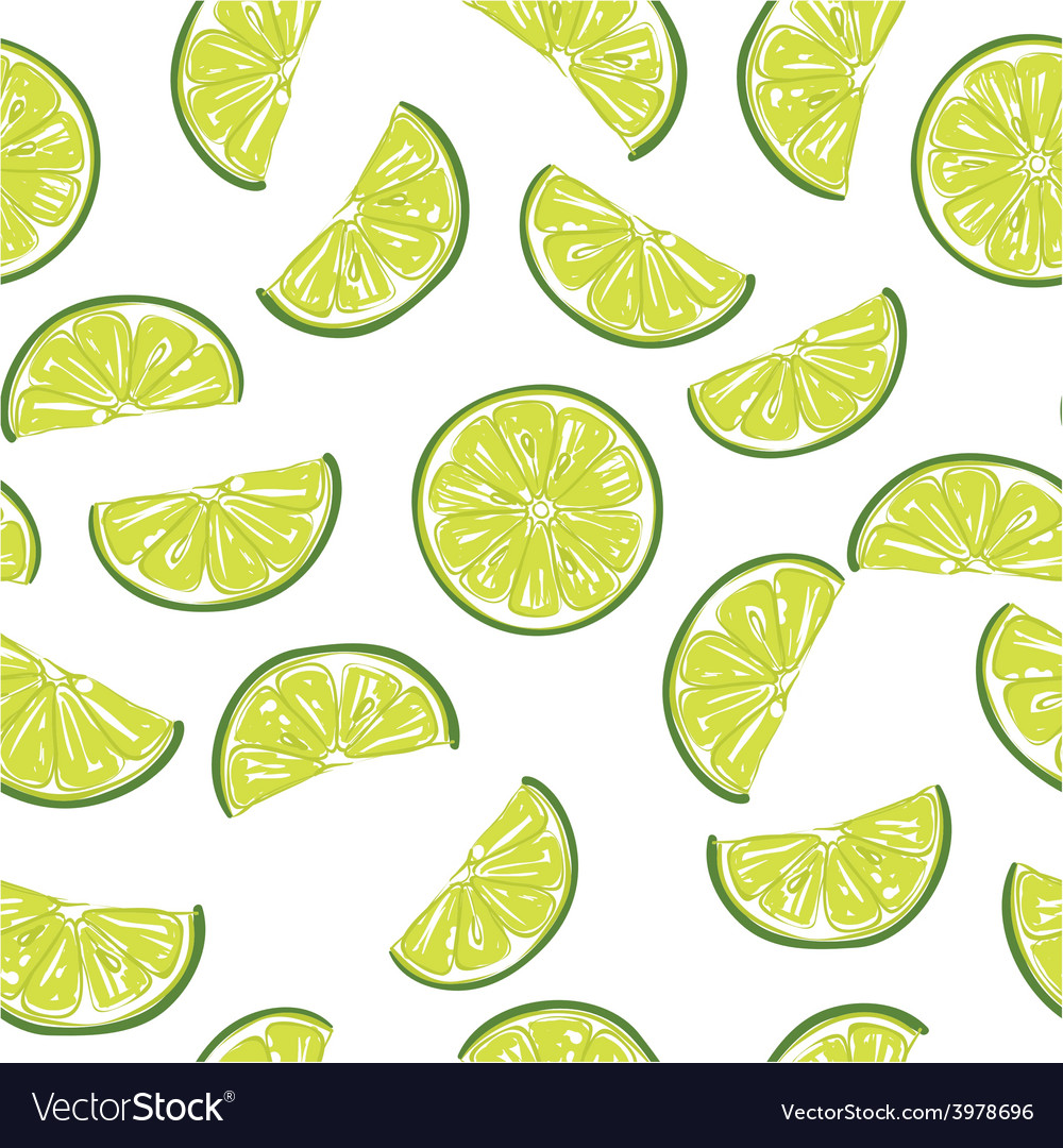 Seamless sliced lime pattern vector | Price: 1 Credit (USD $1)