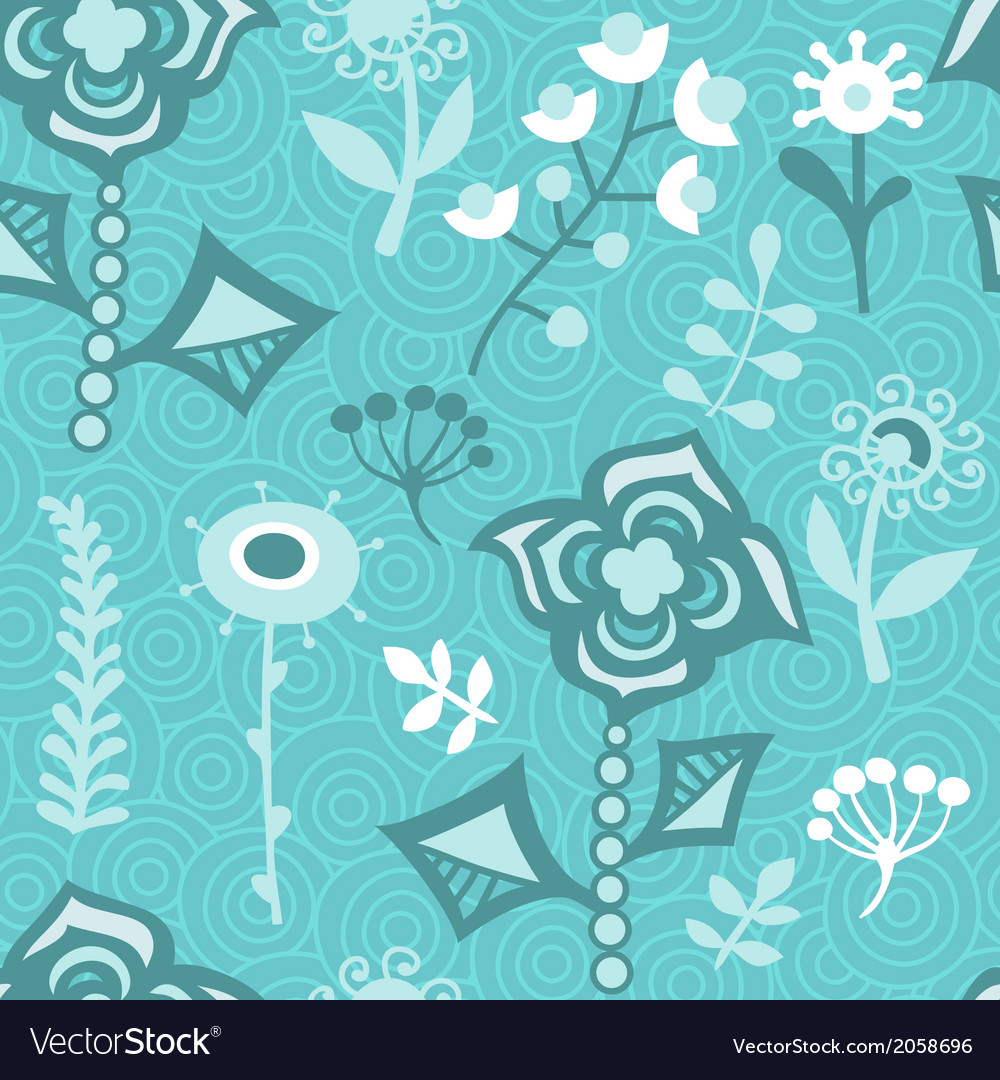 Seamless texture with flowers endless floral vector | Price: 1 Credit (USD $1)