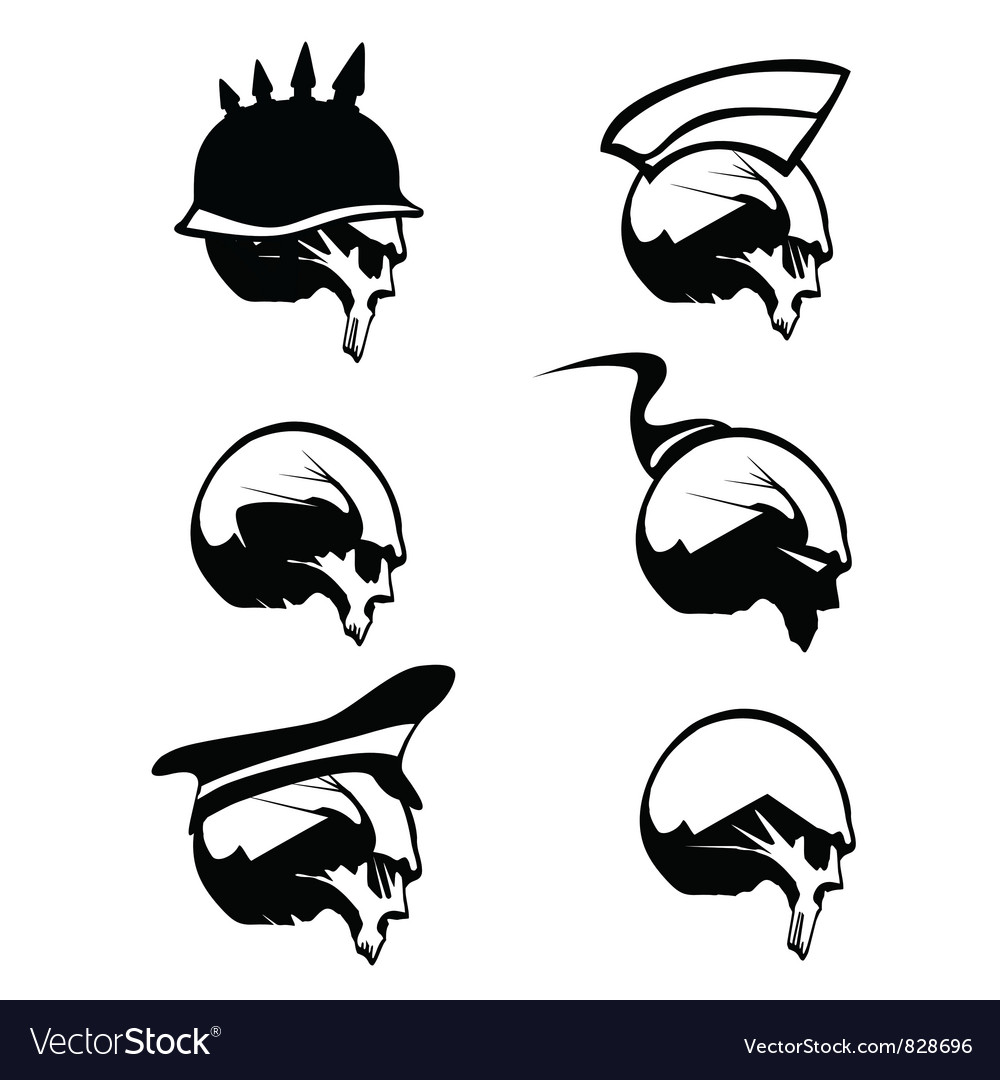 Skull silhouette vector | Price: 1 Credit (USD $1)
