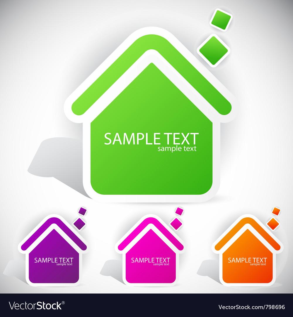 Speech paper home vector | Price: 1 Credit (USD $1)