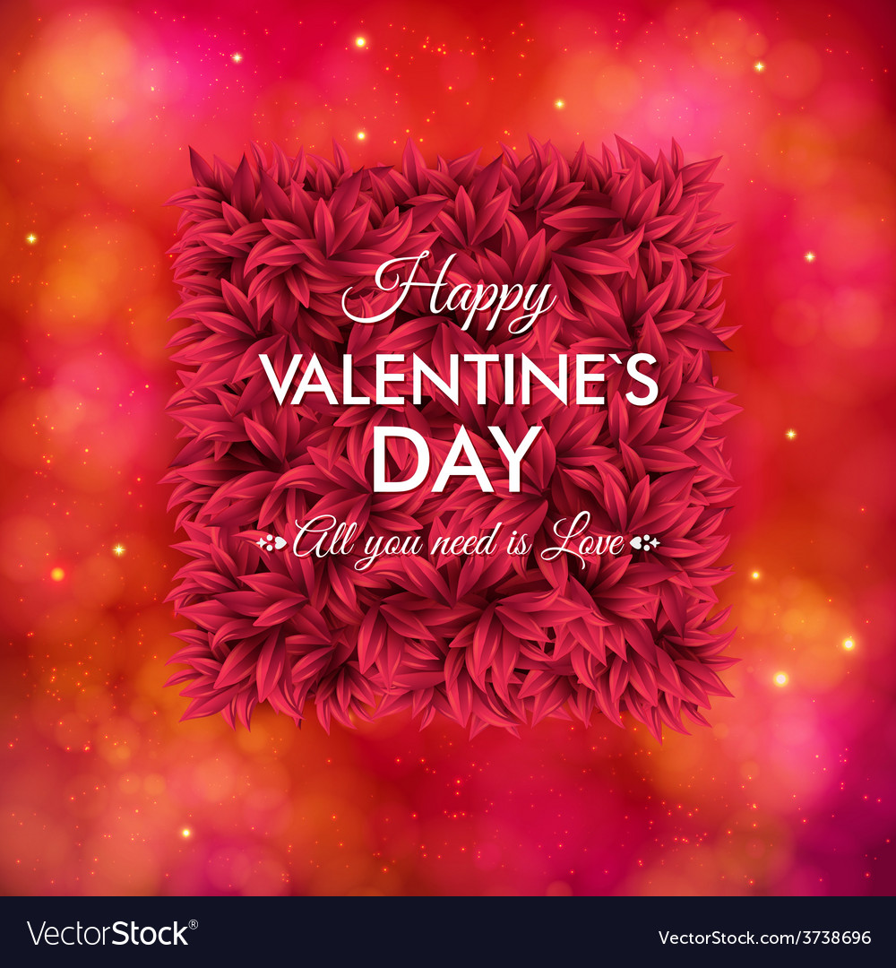 Tender floral red valentines day card design vector   Price: 1 Credit (USD $1)