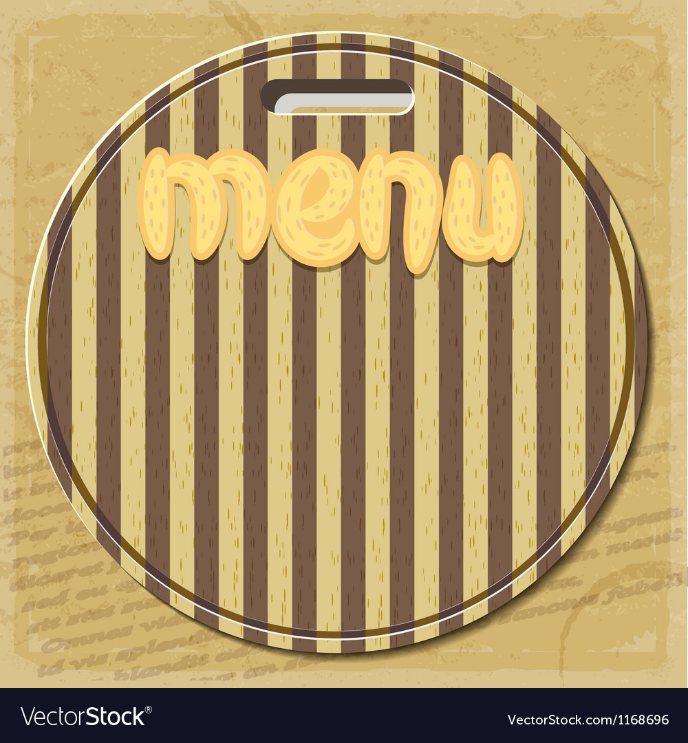 Vintage menu for restaurant vector | Price: 1 Credit (USD $1)