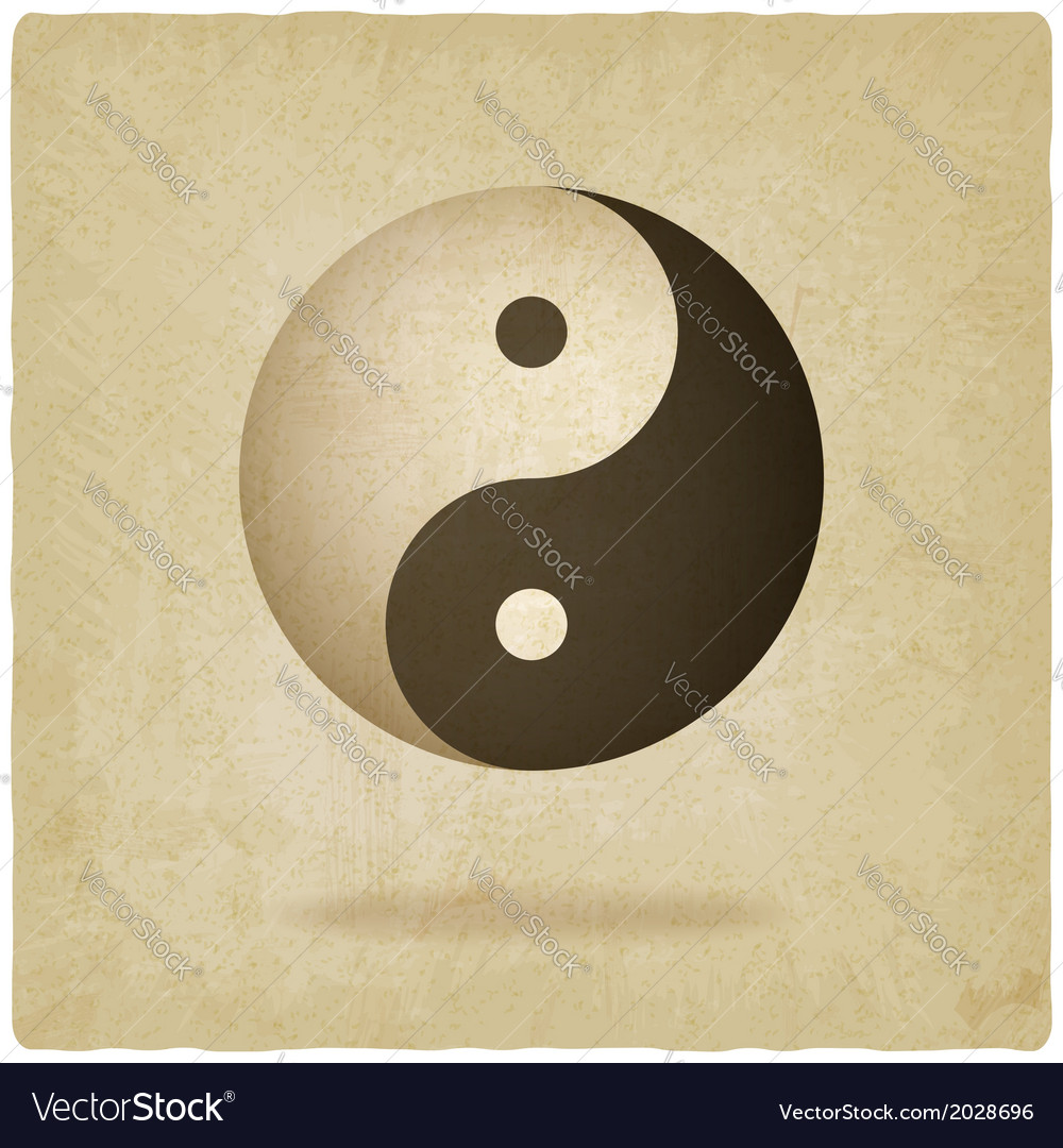 Yin yang old background vector | Price: 1 Credit (USD $1)