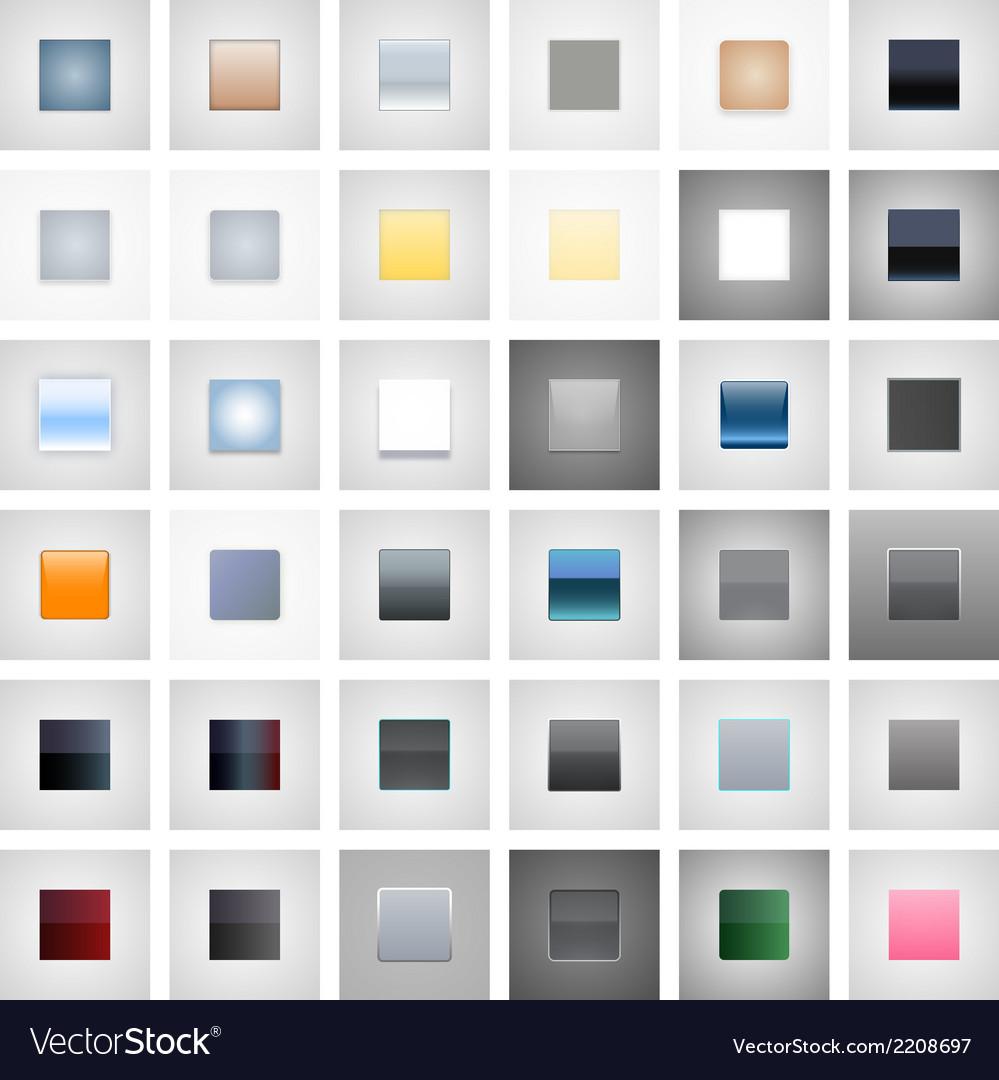 36 icon buton graphic styles vector | Price: 1 Credit (USD $1)