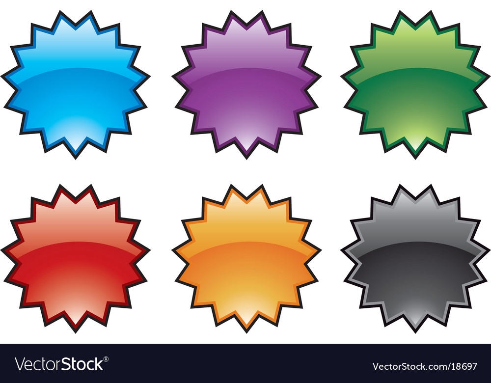 Abstract colorful burst icons vector | Price: 1 Credit (USD $1)