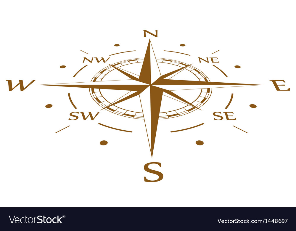Brown compass compressed vector | Price: 1 Credit (USD $1)