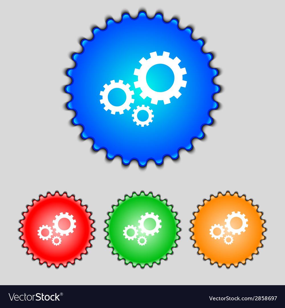 Cog settings sign icon cogwheel gear mechanism vector | Price: 1 Credit (USD $1)