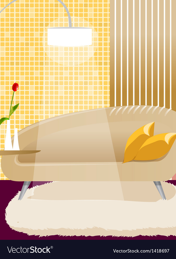 Couch and lamp interior vector | Price: 1 Credit (USD $1)