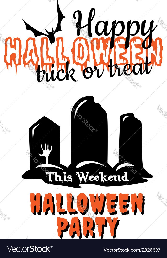 Halloween party poster or invitation vector   Price: 1 Credit (USD $1)