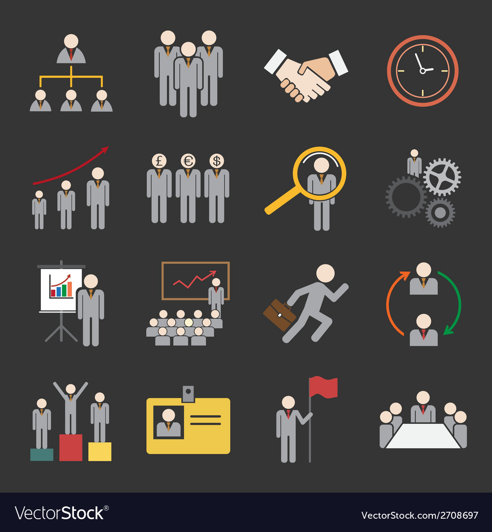 Human resource icon vector | Price: 1 Credit (USD $1)