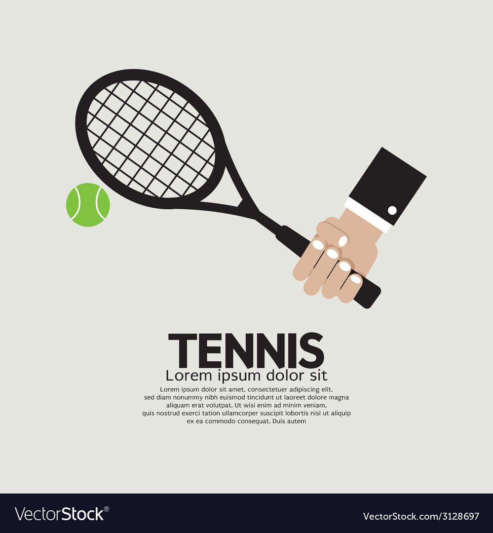Tennis playing graphic vector | Price: 1 Credit (USD $1)