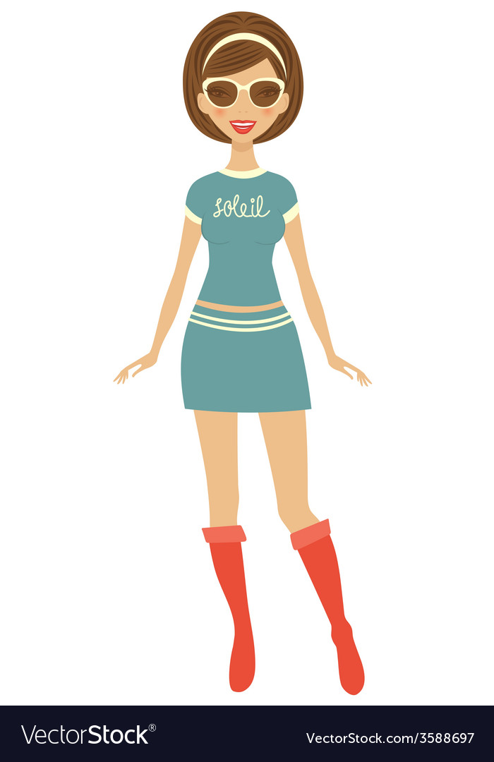 Trendy girl vector | Price: 1 Credit (USD $1)