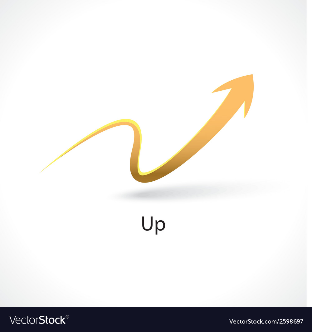 Up arrow vector | Price: 1 Credit (USD $1)