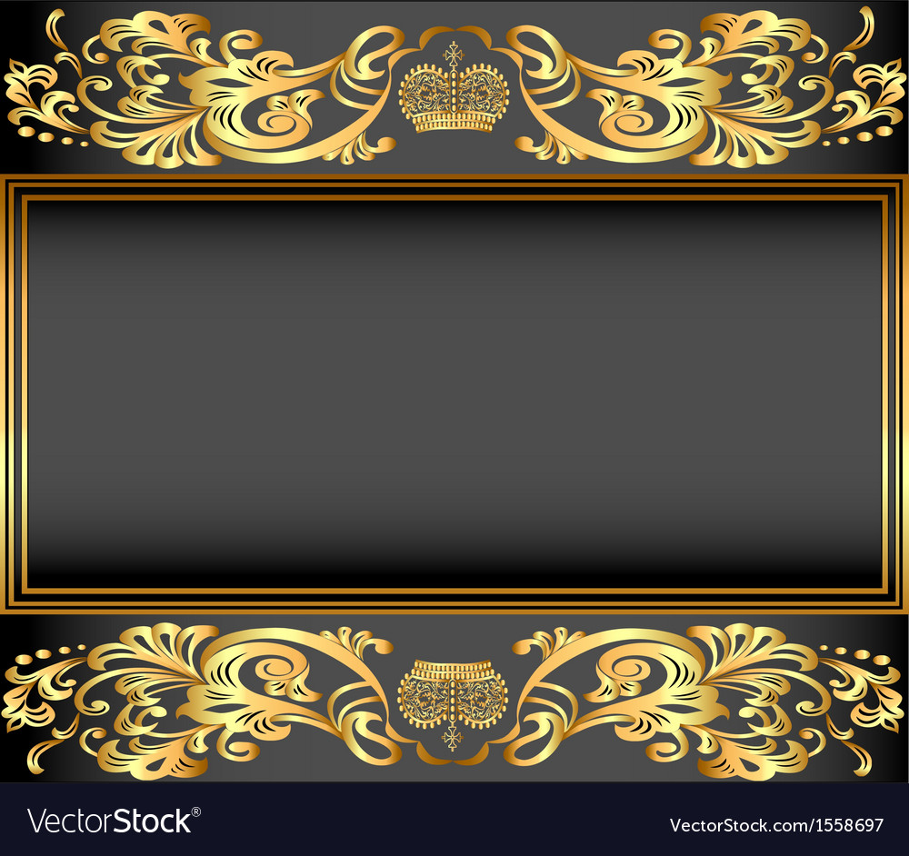 Vintage background frame vector | Price: 1 Credit (USD $1)