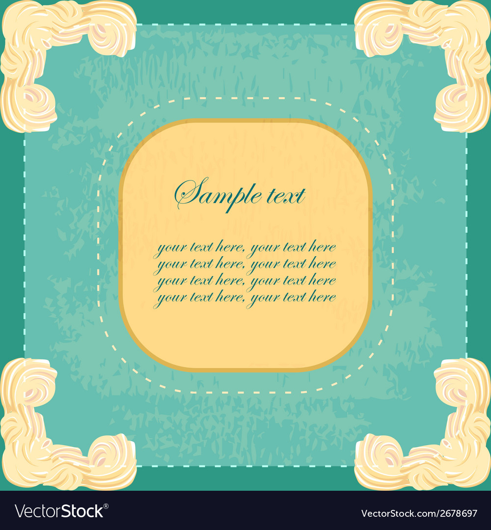 Vintage banner with sweet cream corners vector | Price: 1 Credit (USD $1)