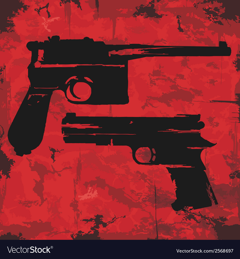 Vintage grunge guns graphic design vector | Price: 1 Credit (USD $1)